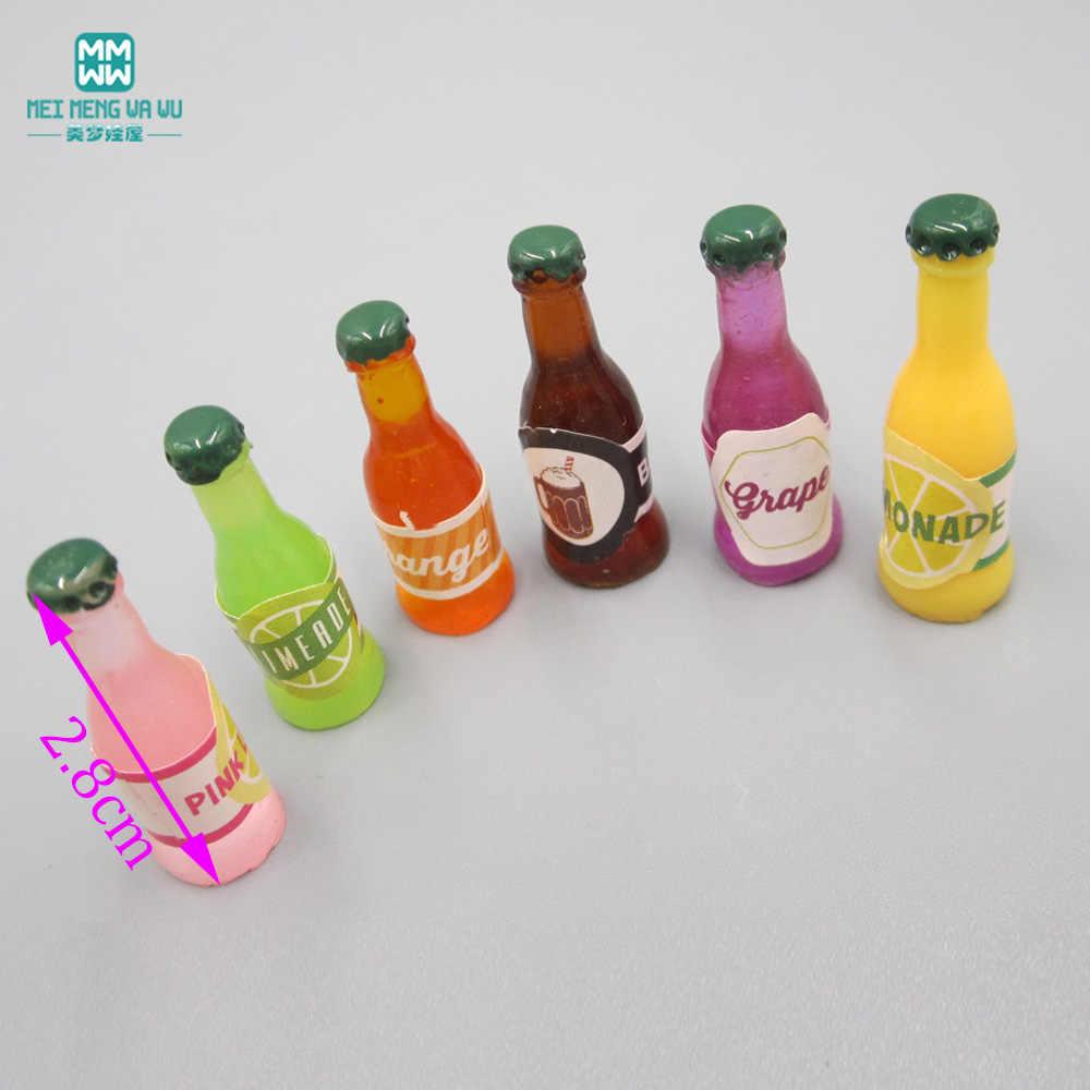 2.5 cm -- 5 cm Mini Simulação talheres jogo de chá garrafa de vinho comida serve 13 1/4 1/6 BJD SD \ doll house acessório