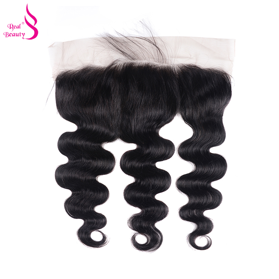 Real Beauty  Body Wave Lace Frontal  Natural Color 13X4 Ear To Ear Lace Closure  With Baby Hair 1