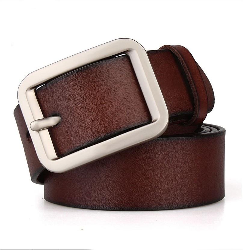 100%Leather Belt Men High Quality vuitt Luxury Brand Casual wide Belts Vintage Black Waist Strap For Men Ceinture130 140 150 160