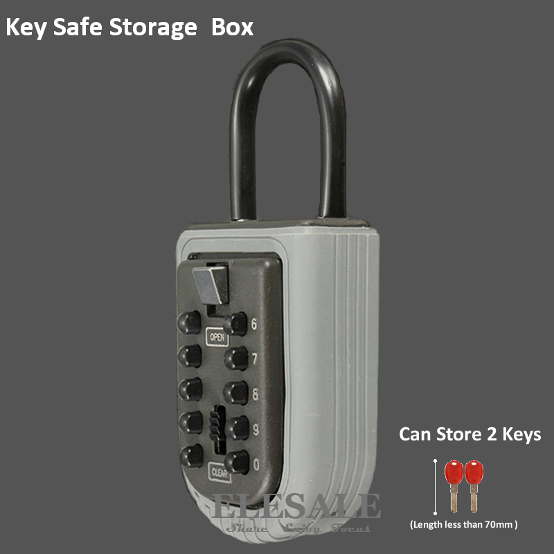 New Key Safe Storage Organizer Box With Combination Lock 10-Digital Password Weatherproof For Home Outdoor Use Drop Shipping household england flag pattern password storage box