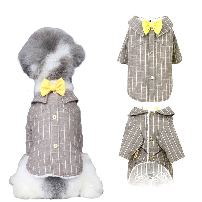 Pet Dog Clothes Cat Prince Wedding Suit Cute Gentleman Cachorro Mascotas Chihuahua Tuxedo Bow Tie Puppy Coat Supplies Pets95