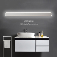 Modern black/white bathroom led mirror lights 0.4M~1.2M wall lamp bedroom stair light led wall lights applique murale luminaire