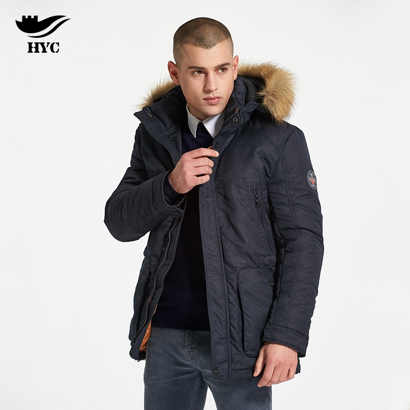 HAI YU CHENG Anorak Windbreaker Long Parka Men Snow Wear Male Cheap Coats Jacket Coat Brand Warm Windproof Mens Winter Jackets