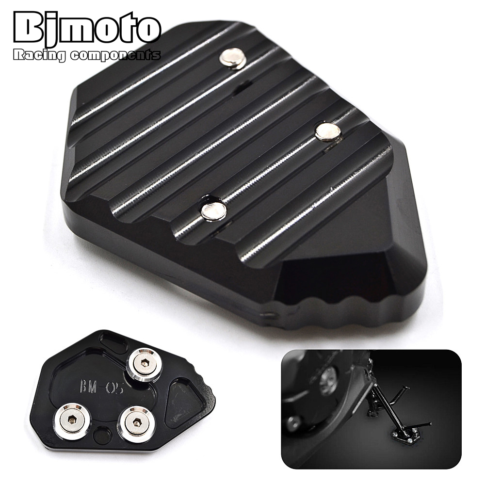 New Motorcycle Parts Kickstand Foot Side Stand Enlarge Extension Pad Support Plate For BMW K1300S 2009-2012 K1300R K1200S K1200R  for yamaha mt09 mt 09 mt 09 2013 2015 2014 new motorcycle parts kickstand foot side stand enlarge extension pad support plate