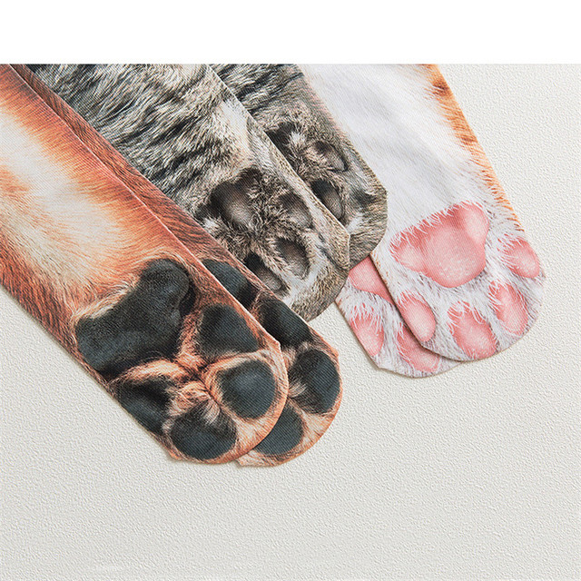 Cotton Funny Print Animal Cute Casual Fashion High Ankle Socks 5