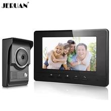 JERUAN  Wired Video doorbell Speaker Intercom System 7 inch LCD Screen Video door phone intercom Doorbell COMS Camera In stock