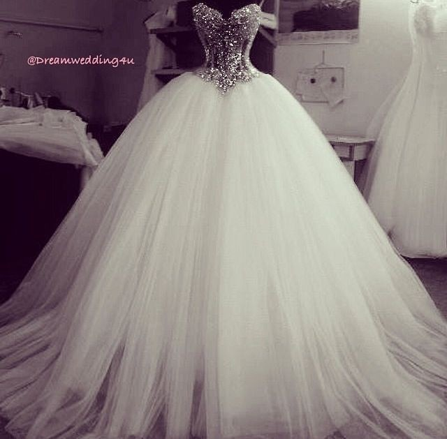 Luxury 2015 Crystals Diamond Ball Gown Wedding Dress Off the ...