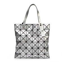 YUTUO Handbag BaoBao Bag Female Folded Geometric Plaid Bag BAO BAO Fashion Casual Tote Women Handbag Mochila Shoulder Bag