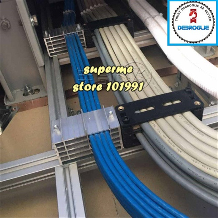 DEBROGLIE 2pcs Aluminum Wire Fixer For Machine Cabinet  Integrated Wiring Clamp Fixed Cable Combs Tidy Tools For Computer Room