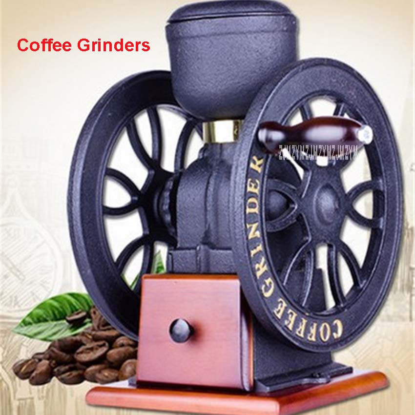 XC29 Metal Vintage Windmill Steel Core Grinding High Quality Manual Coffee Grinder Manual Handle Coffee Tools Beer capacity 60g|Manual Coffee Grinders| |  - title=