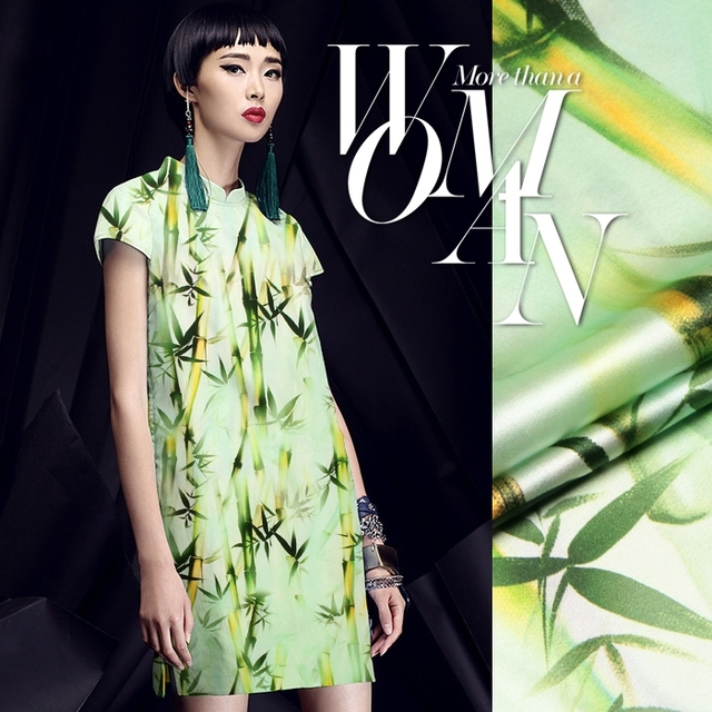 DIY Neue Ankunft Chinesischen Stil Bambus Digitaldruck Seide ...