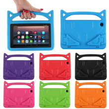 Funda de accesorios para Tablet e-Book para Amazon Kindle Fire HD 8 2018 8 generación niños caja de soporte de goma EVA segura(China)