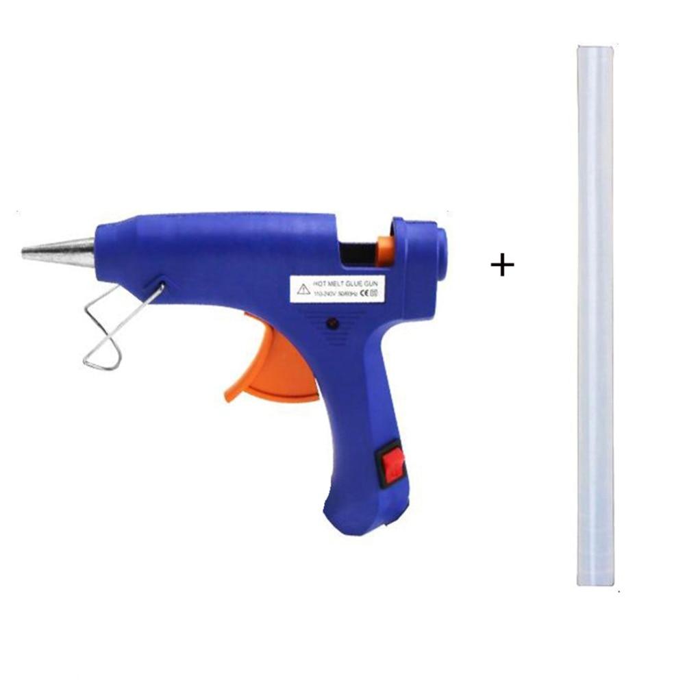 20 Вт ЕС Plug термоклей пистолет с 1 шт. 7 мм Клей-карандаш промышленных мини Пистолеты термо-Электрический тепла Температура инструмент DIY Repair Tool