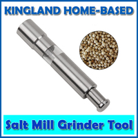 Salt Pepper Mill Grinder Steel Moedor De Pimenta Manual Push Silver Corn Mustard Thumb Push Seed