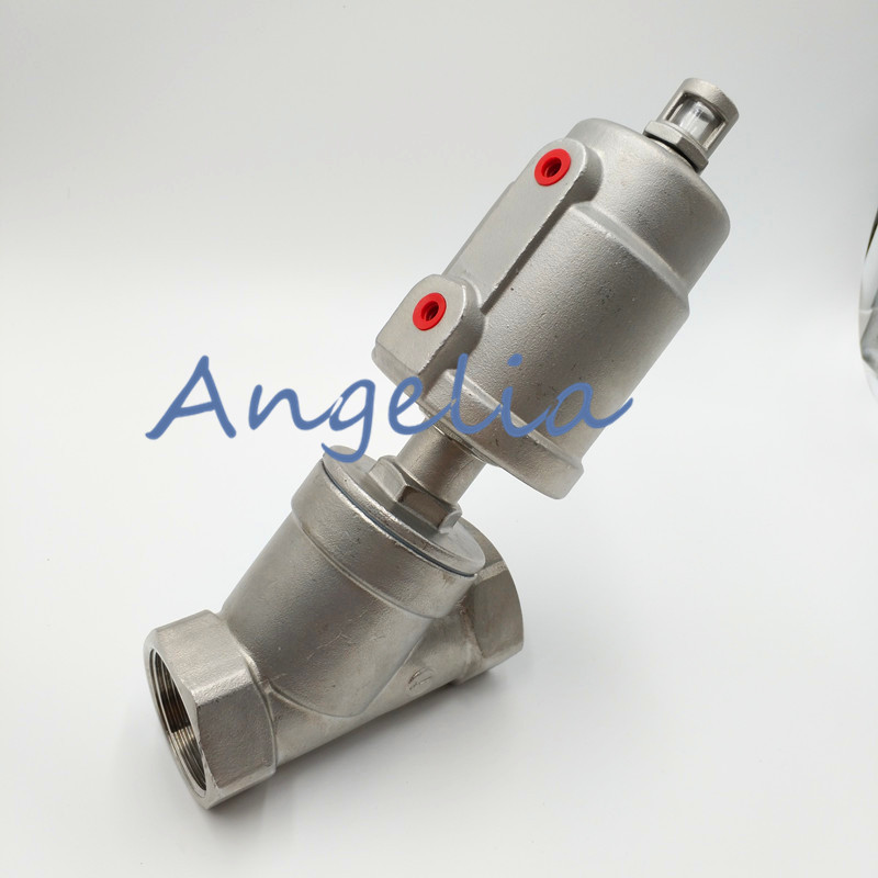 3/4 DN20 BSP Stainless Steel 304 Double Acting Air Actuated Angle Seat Valve Normally Closed free shipping high quality dn25 1 stainless steel 304 double acting air actuated pneumatic ball valve actuator