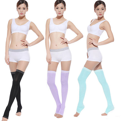 Women Slim Sleeping Beauty Leg Warmer Compression Burn Fat Thin Socks Stockings