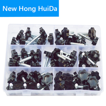 Thread Star Shaped Head Clamping Screw Bolt Knob For Industry Equipment Plastic Carbon Steel Galvanization Assortment Kit Set M6 4pcs 30mm star head dia m6 x 20mm male thread screw on type clamping knob