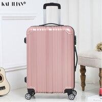 Neue heiße koffer carry-ons Frauen reise Spinner roll gepäck auf rädern 20/22/24 zoll Kabine trolley box mode männer der gepäck