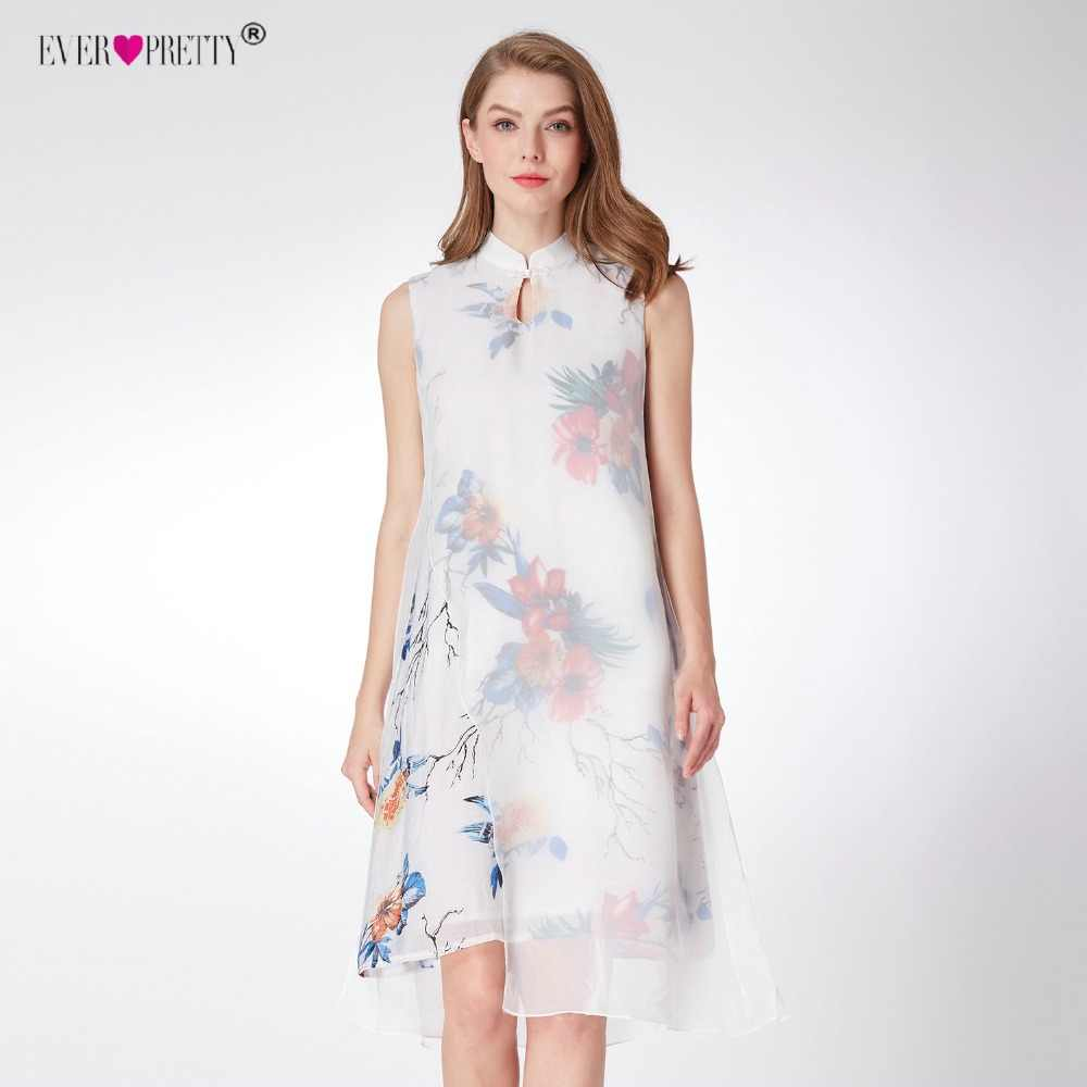 8200959451496 Women's Vintage Cocktail Dresses Ever Pretty AS04001 Stand Collor  Buttonhole Loop Printed Short Party Dress Spring Summer Dress