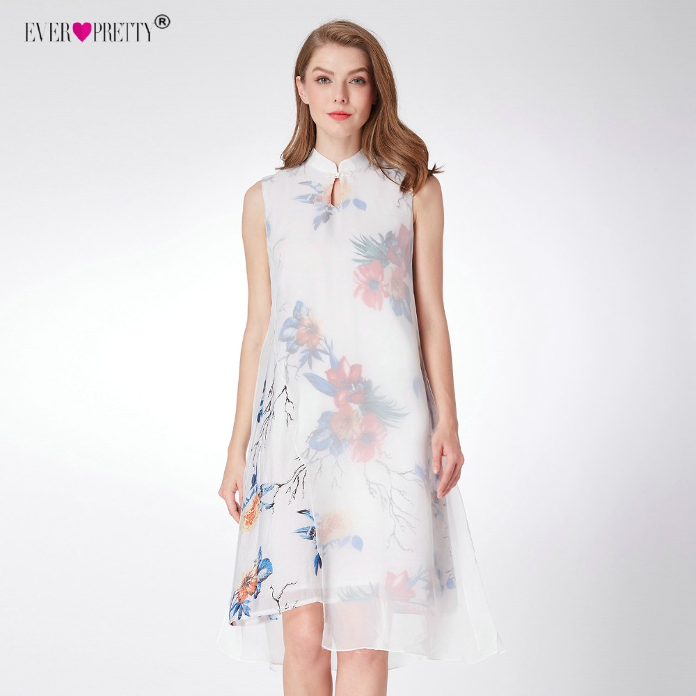 Women's Vintage   Cocktail     Dresses   Ever Pretty AS04001 Stand Collor Buttonhole Loop Printed Short Party   Dress   Spring Summer   Dress