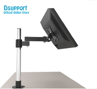 LK101/40 Desktop Grommet Mounting 13 27 Monitor Holder Base Stand LCD LED Display TV Mount Stainless Steel