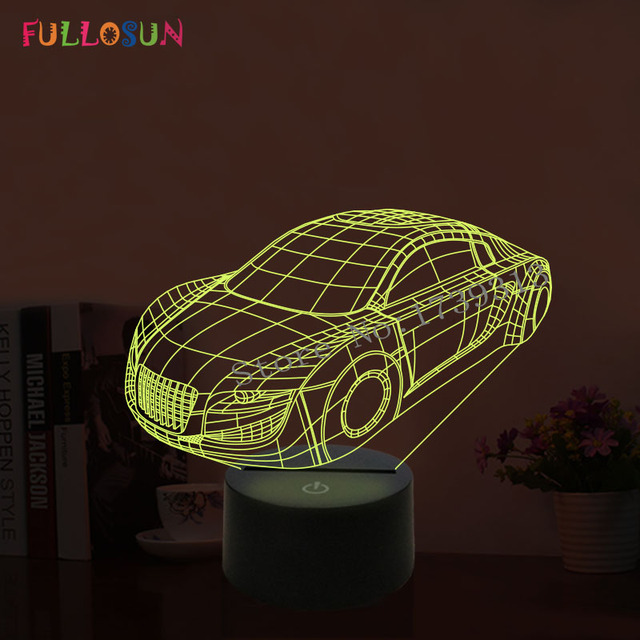 FULLOSUN 3D LED USB Table Lamp Cool LED Car Shape Night Lights USB ...