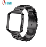 Excellent Quality Fashion Stainless Steel WatchBand Band Strap Metal Frame For Fitbit Blaze Activity Tracker Watch