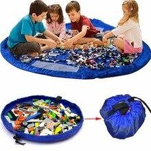 Safebet Portable Kids Toy Organizer Storage Bag Play Mat Rug Carpet Bath Box Basket Capacity Blanket