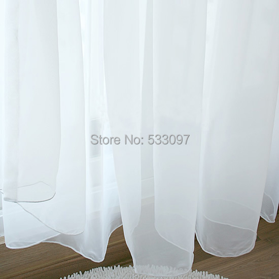 High Quality Curtain Yarn Window Screening Modern White Transparent Finished Product Fabric For Curtains
