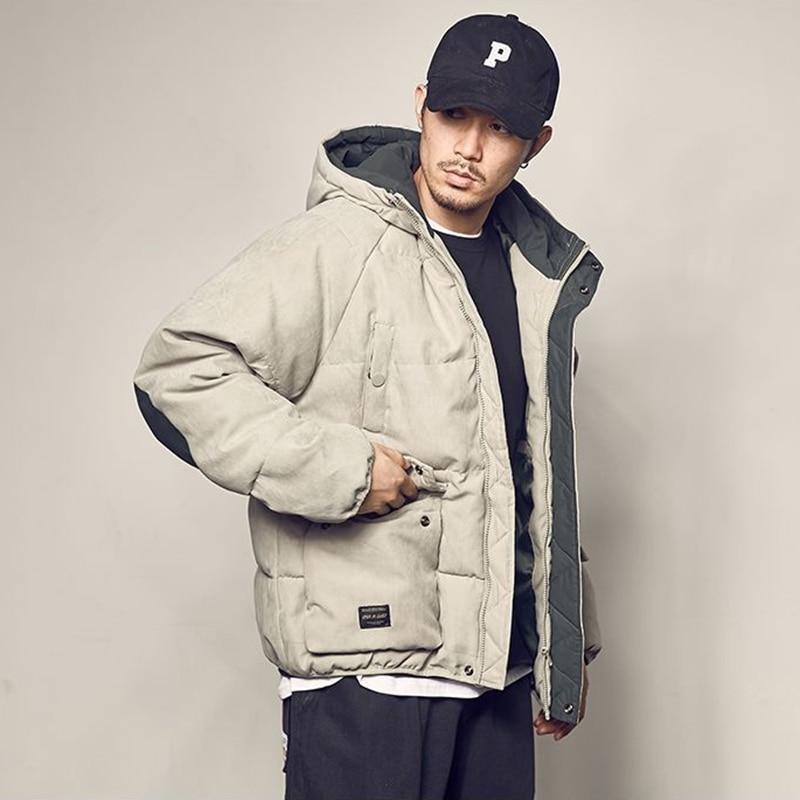 Fashion Winter Warm Jacket Men Hip Hop Outerwear Thick Pullover 2019 New Arrival Harajuku Streetwear Hip Hop Plus Size Coats 4XL