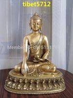 Тибетского буддизма бронза статуя Будды Шакьямуни 21 см бронзовая отделка Будда Исцеление статуя