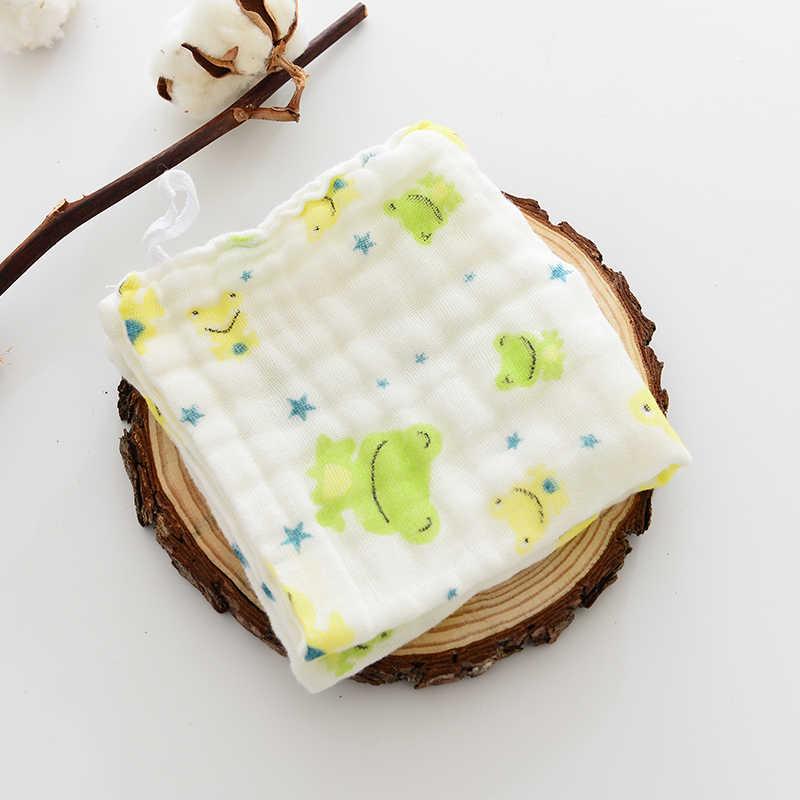 5 unids/lote pañuelo para Bebé toalla cuadrada con patrón de frutas 28x28cm de algodón de muselina para la cara infantil paño de limpieza
