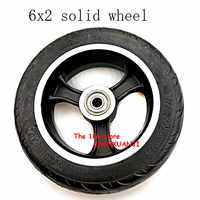 Free shipping 6x2 solid tire wheel hub Fast wheel F0 widened rear wheel 6 inch electric scooter solid tyre wheel