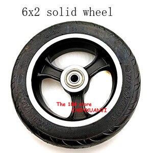Image 1 - Freies verschiffen 6x2 solide reifen rad hub Schnelle rad F0 verbreitert hinten rad 6 zoll elektrische roller solide reifen rad