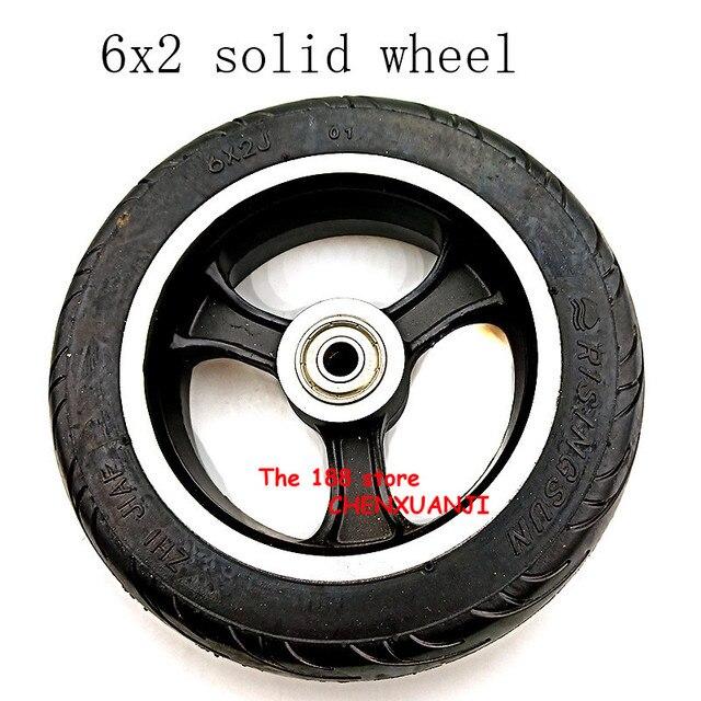 Freies verschiffen 6x2 solide reifen rad hub Schnelle rad F0 verbreitert hinten rad 6 zoll elektrische roller solide reifen rad