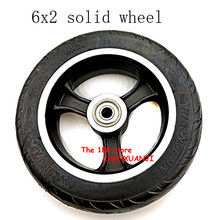 Ücretsiz kargo 6x2 katı lastik tekerlek hub hızlı tekerlek F0 genişletilmiş arka tekerlek 6 inç elektrikli scooter katı lastik tekerlek