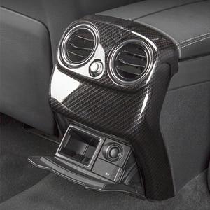 Image 4 - Carbon Fiber Auto Hinten Air Conditioner Outlet Vent Abdeckung Trim Für Mercedes E Klasse E200 E320 E260 E300 E350 Auto zubehör
