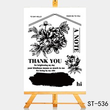 AZSG Blessing of friends Clear Stamps For DIY Scrapbooking Rubber Stamp/ Seal Paper Craft Stamp Card Making