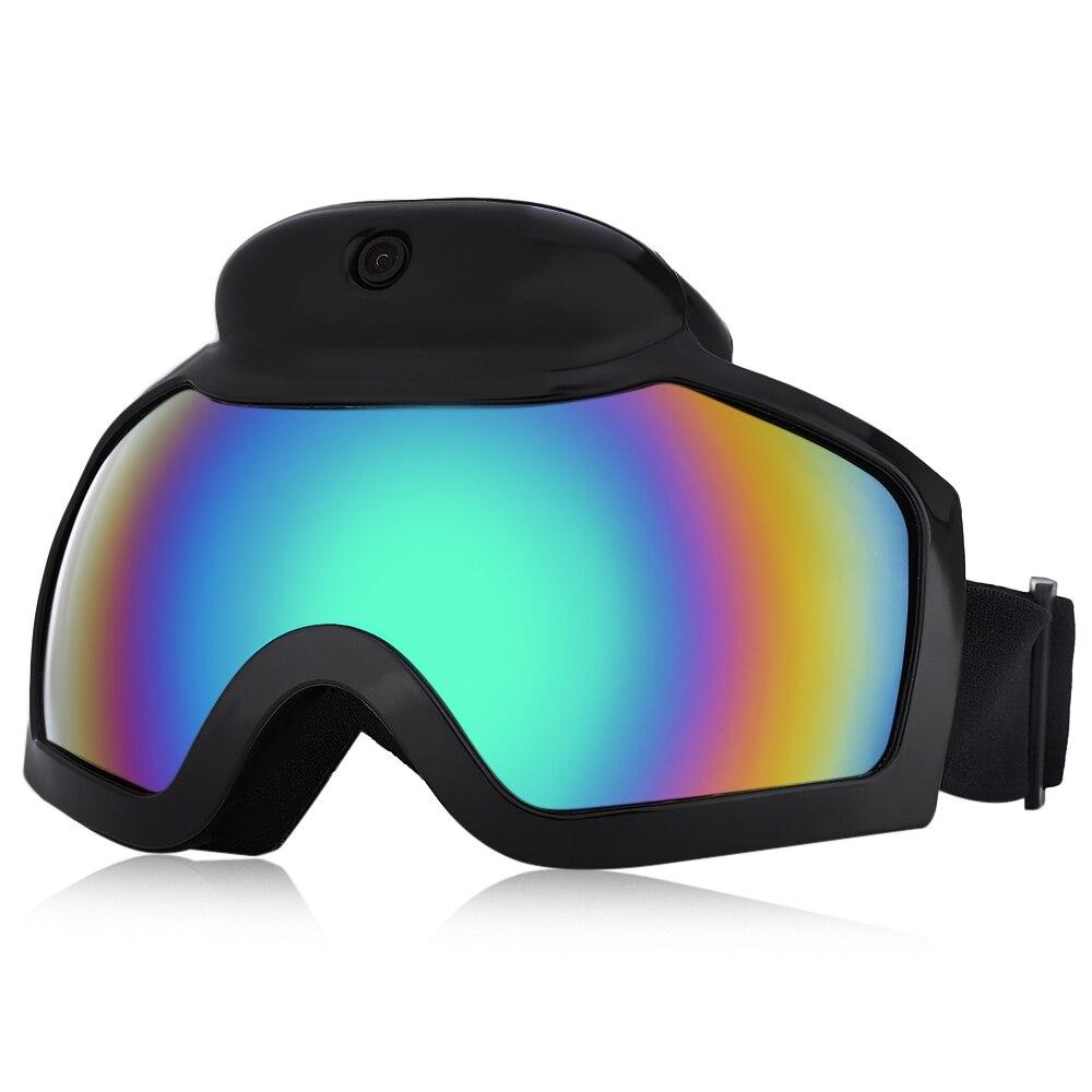 Prix pour Nouvelle Arrivée Marque Ski Lunettes Masque Avec 1080 P HD Caméra Caméscope Anti-brouillard Hommes Femmes Snowboard Lunettes Avec Camera Action