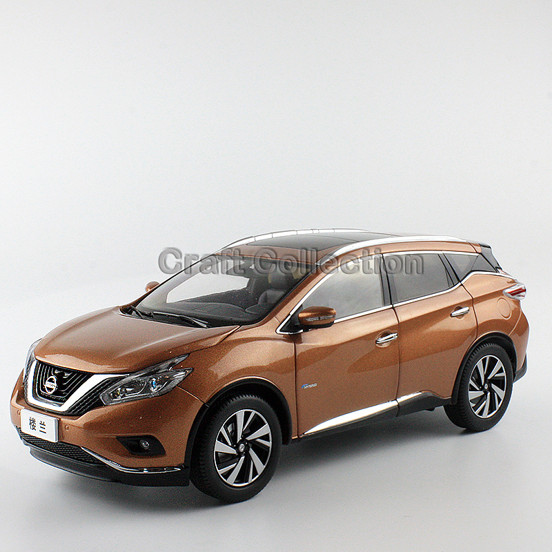 * New 1:18 Nissan Murano SUV 2016 Brown Metal Model Car Gifts Model Car Kits Simulation Model Limited edition
