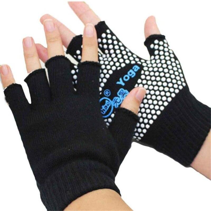 2019 #  FASHION Sports Semi Finger Gloves Yoga Sports Gloves Anti Slip Semi Finger Gloves