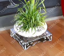 Solid Lucite Acrylic flower Stand Perspex plants Pot