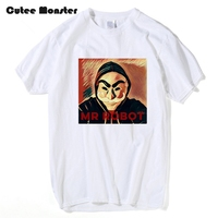 Mr Roboter T-shirt Männer Film V Wie Vendetta T-shirt 2017 neue Sommer Kurzarm Baumwolle Casual Tee Tops Camisetas Masculina 3XL