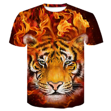 2019 Newest flame tiger 3D Print Animal Cool Funny Shirt Men Short Sleeve Summer Tops T Shirt Tshirt man Fashion T-shirt male4XL цены