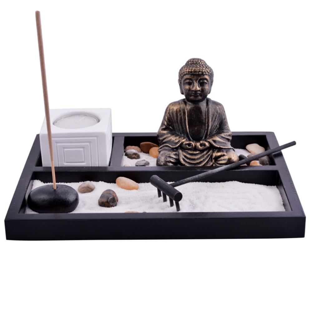 Feng Shui Κήπος άμμου Βούδας κέλυφος Tealight - Διακόσμηση σπιτιού - Φωτογραφία 1