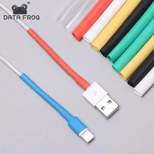 DATA FROG 5PCS Cable protector for Iphone Fixed Shrink Wrap Tube Sleeve Winder Heat USB IPhone 5 6 7 8 X