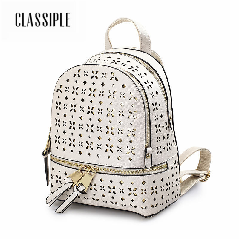 5ce1d5a98691 Detail Feedback Questions about Women Backpack Hot Sale Fashion Causal Bags  For Ladies High Quality Hollow Out White Shoulder Bag PU Leather Backpacks  ...