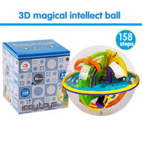 3D Magical Intellect Maze Ball 158 Steps Children S Competition Puzzle Game Educational Toys Balance Logic