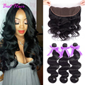 Cheap Brazilian body wave with closure ear to ear lace frontal closure with bundles Brazilian virgin hair Body wave with closure