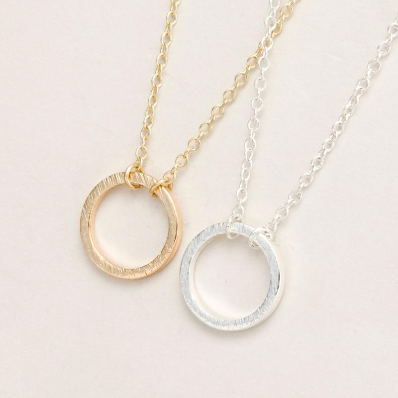 Új divat eladni kecses arany és ezüst ábra örökre kör medál nyaklánc női party ajándék nyilatkozat nyaklánc EY-N083